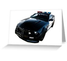 Ford Mustang Saleen Police Car Greeting Card