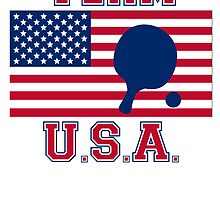 Table Tennis American Flag Team USA by kwg2200