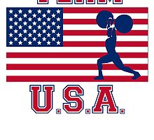 Weightlifting American Flag Team USA by kwg2200