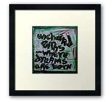 uncharted paths where dreams are born Framed Print