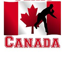 Baseball Pitcher Canadian Flag Team Canada by kwg2200
