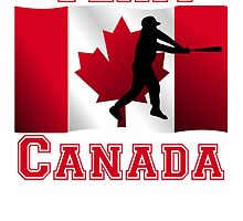 Baseball Batter Canadian Flag Team Canada by kwg2200