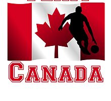 Basketball Dribble Canadian Flag Team Canada by kwg2200