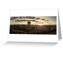 Panoramic Sunset Over Edinburgh, Scotland Greeting Card