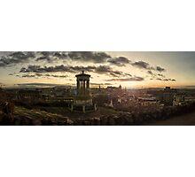 Panoramic Sunset Over Edinburgh, Scotland Photographic Print