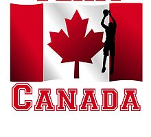 Basketball Jump Shot Canadian Flag Team Canada by kwg2200
