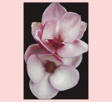 tulip magnolia twins (black bg) Kids Tee