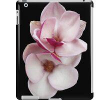 tulip magnolia twins (black bg) iPad Case/Skin