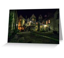 White Horse Close, Canongate. Edinburgh (HDR) Greeting Card
