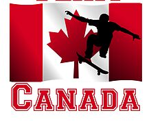Skateboarding Canadian Flag Team Canada by kwg2200
