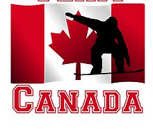 Snowboarding Canadian Flag Team Canada by kwg2200
