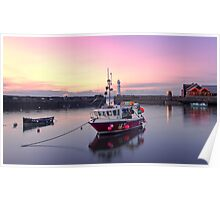 Sunset, Newhaven Harbour. Edinburgh Poster