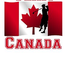Golf Canadian Flag Team Canada by kwg2200