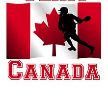 Lacrosse Canadian Flag Team Canada by kwg2200