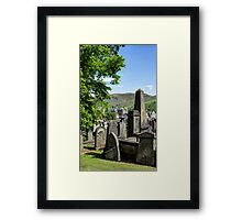 New Calton Cemetery with Holyrood Palace in the background. Edinburgh Framed Print