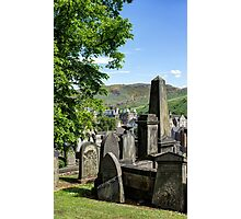 New Calton Cemetery with Holyrood Palace in the background. Edinburgh Photographic Print