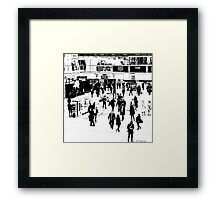 London Commuter Art Framed Print