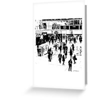 London Commuter Art Greeting Card