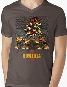 BOWZILLA Mens V-Neck T-Shirt