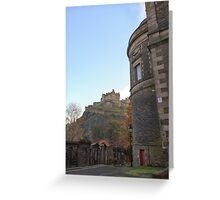 St Cuthbert's Church and Edinburgh Castle Greeting Card