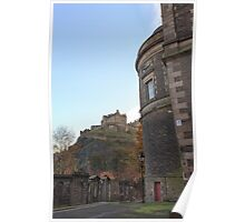 St Cuthbert's Church and Edinburgh Castle Poster