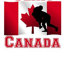Rugby Tackle Canadian Flag Team Canada by kwg2200