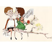 Childhood Lovers Photographic Print