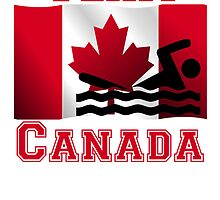 Swimming Canadian Flag Team Canada by kwg2200