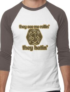 d20 geek Men's Baseball ¾ T-Shirt