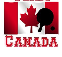 Table Tennis Canadian Flag Team Canada by kwg2200