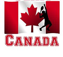 Tennis Canadian Flag Team Canada by kwg2200