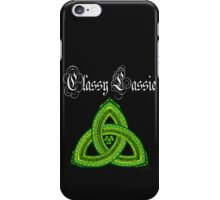 Irish Classy Lassie Clover Trinity or Dark Ts and Products iPhone Case/Skin