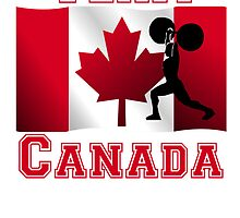 Weightlifting Canadian Flag Team Canada by kwg2200