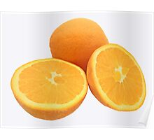 Sliced Oranges Poster
