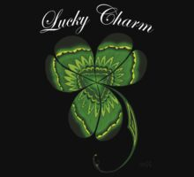 St. Patrick's Day Irish Lucky Charm Clover for Dark Ts and Products by wildwildwest