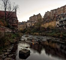 Dean Village Sunrise, Water of Leith by Miles Gray