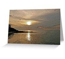 Illuminating Sunset Greeting Card