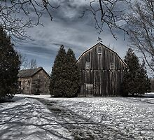 ball's falls mill & barn by Brock Hunter