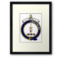 Bell Clan Badge Framed Print