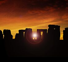 Winter Solstice at Stonehenge by hootonles