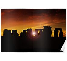Winter Solstice at Stonehenge Poster