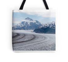 Birds eye view ~ Meade Glacier, Alaska Tote Bag