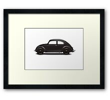 1938 KdF Wagen - Side Profile View Framed Print