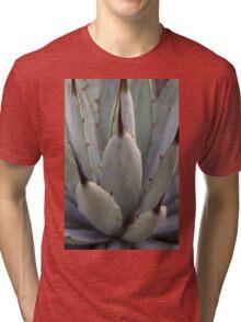 Agave Thorns -Cactus Macro, Natural Pattern Tri-blend T-Shirt