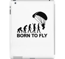 Evolution Skydiving born to fly iPad Case/Skin
