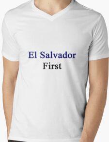 El Salvador First Mens V-Neck T-Shirt