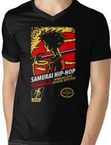 Samurai Hip-Hop Mens V-Neck T-Shirt