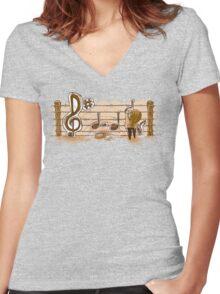 Make Music Women's Fitted V-Neck T-Shirt