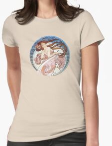 Vintage Mucha Moon Womens Fitted T-Shirt