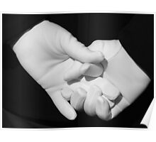 Gloved Hands Poster